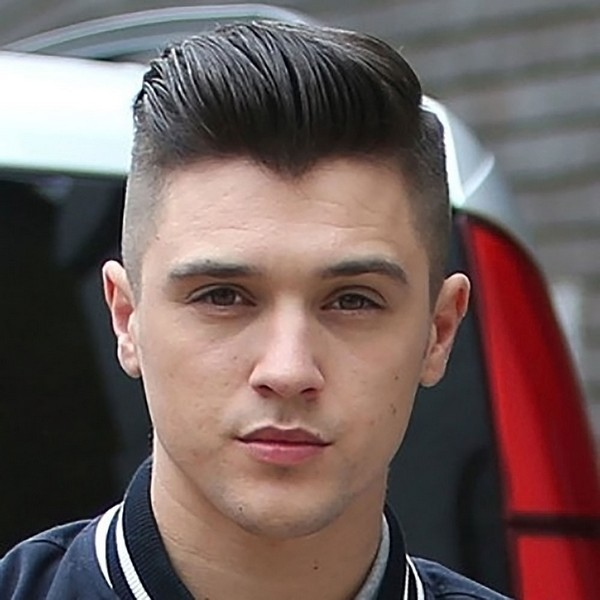 Mens Hairstyles Medium Top Short Sides Haircut