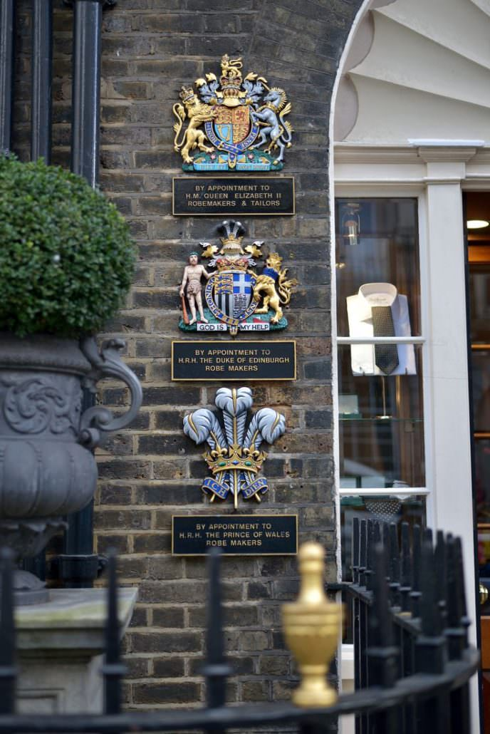 The seals of the extant three royal warrant granters