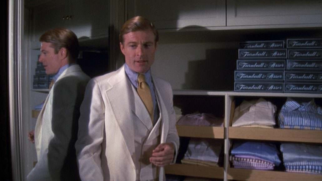 Robert Redford as Gatsby and Turnbull & Asser shirts