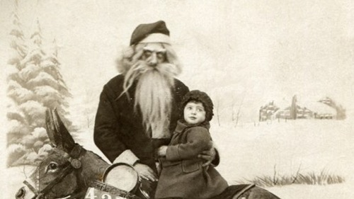 creepy vintage santa christmas
