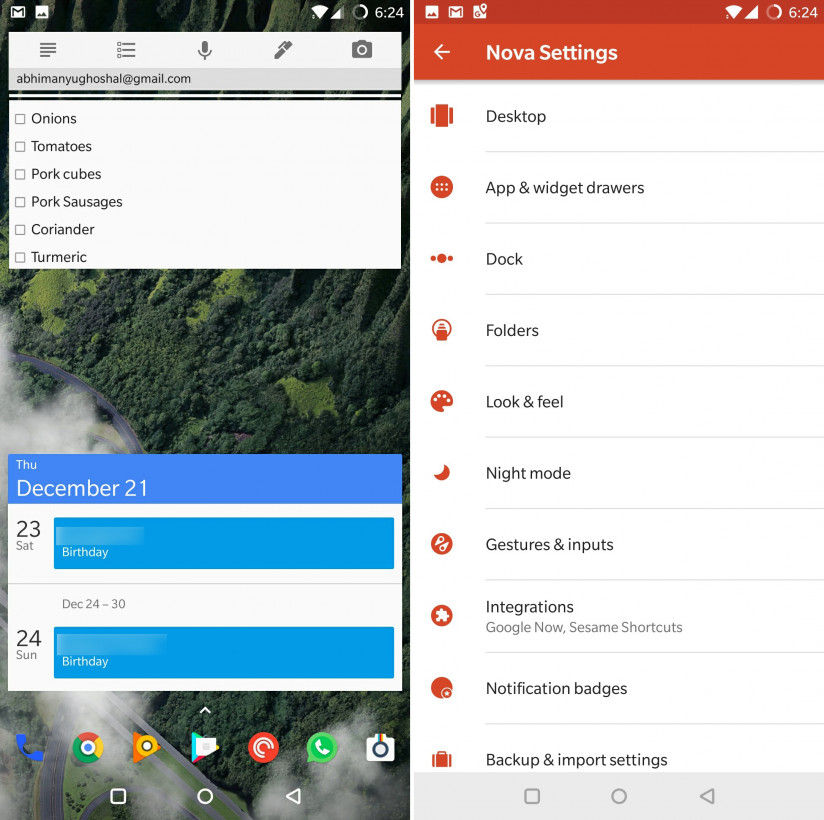 Nova Launcher is infinitely flexible and offers plenty of options for customizing your setup