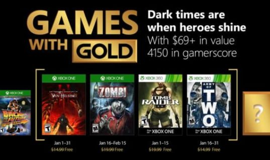 January's Games with Gold are The Incredible Adventures of Van Helsing III and Zombi
