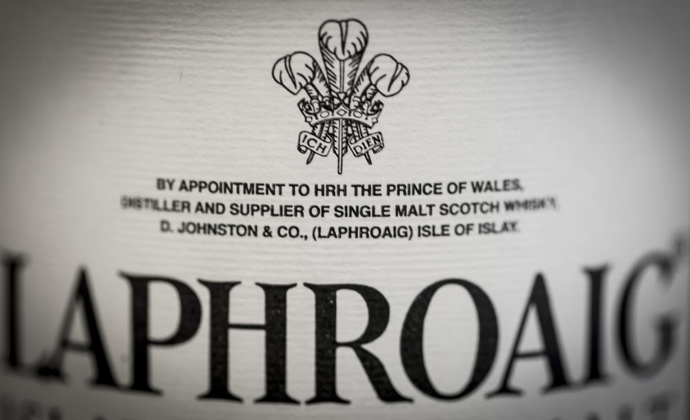 The Prince of Wales Warrant to Laphroaig Single Malt Scotch Whisky