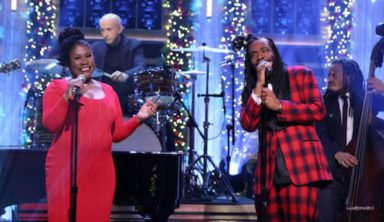 """DRAM Performs """"Silver Bells"""" With His Mom on 'Fallon'"""