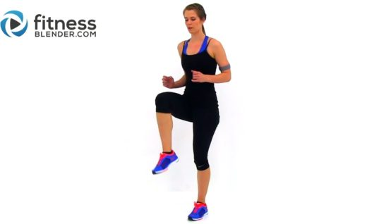 Fat Burning Cardio Workout – 37 Minute Fitness Blender Cardio Workout at Home