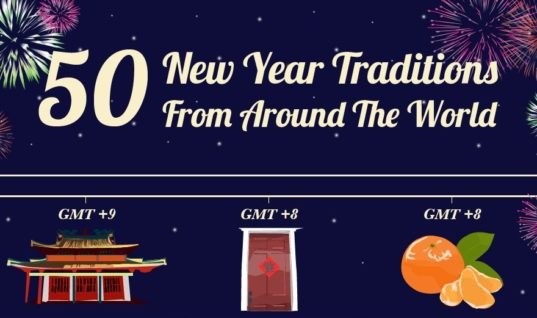 50 New Year traditions from around the world [INFOGRAPHIC]