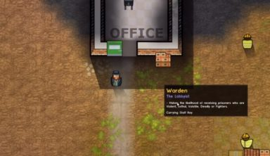Prison Architect's 13th update lets you live the life of a warden, up close and personal
