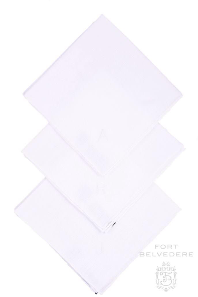 Linen handkerchiefs by Fort Belvedere