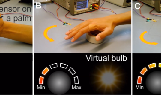 New Electronic Skin Allows You to Manipulate Virtual Objects