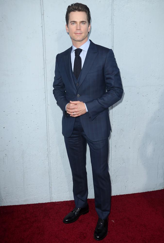 Matt Bomer Wearing A Three-Piece Suit