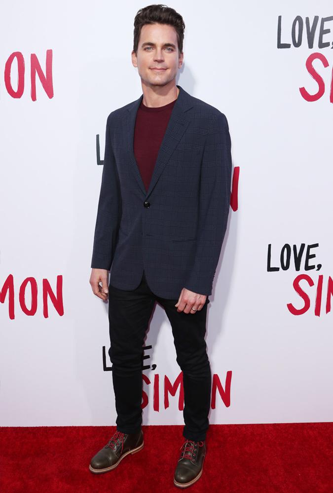 Matt Bomer Wearing A Check Jacket