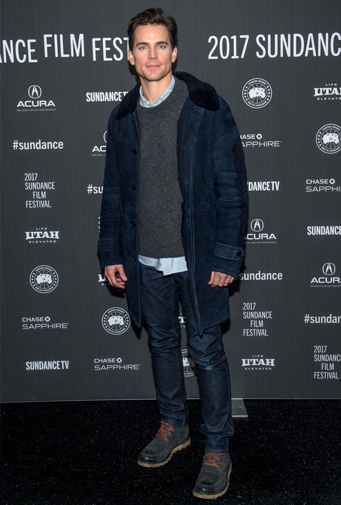 Matt Bomer Wearing A Blue Jacket