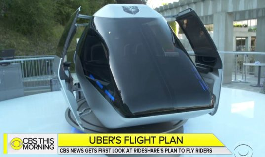 Uber unveils its self-flying taxi that could hit city skies as soon as 2020