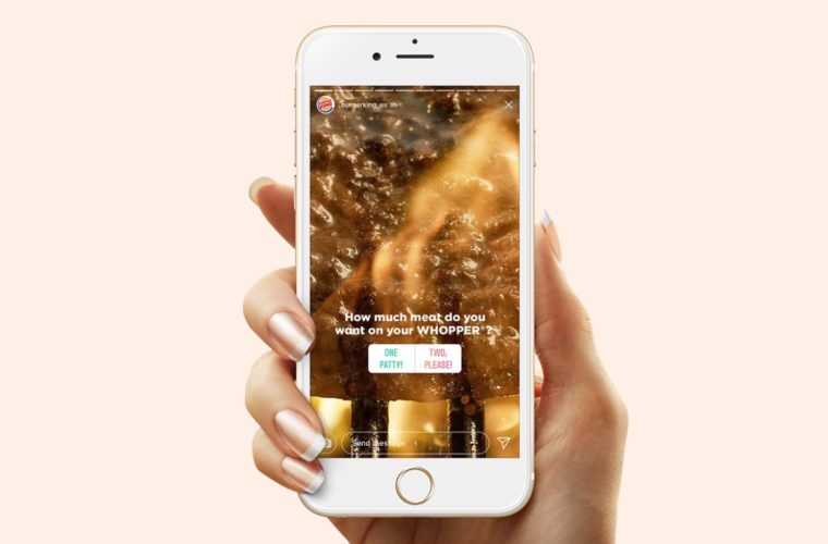 Burger King Turns Instagram Stories into Food Orders