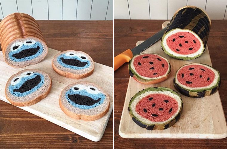 Colourful Bread From Japan That Hides a Cute Character Inside