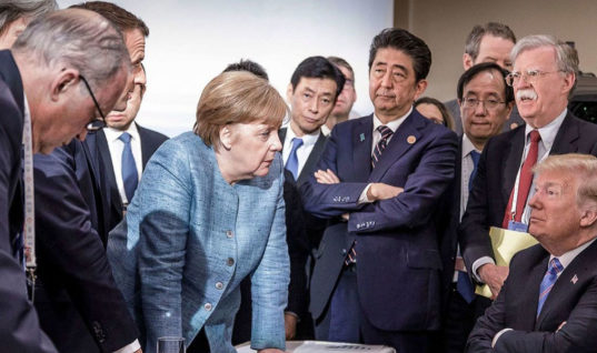 President Trump Unable To Spell His Name On G7 Statement