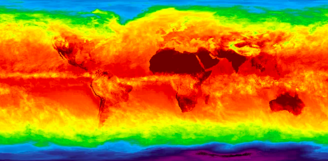 Infrared Map Of Earth Atmospheric Sounder