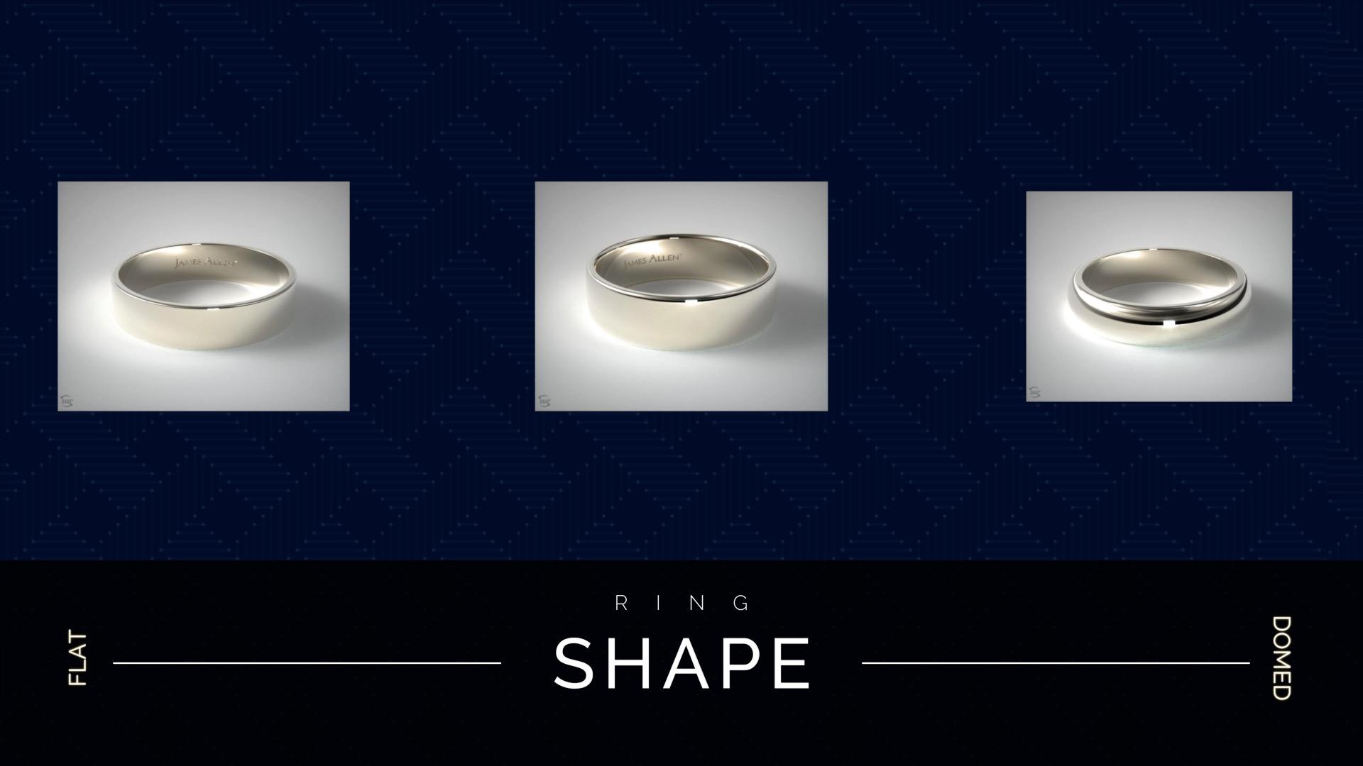 Wedding band shapes
