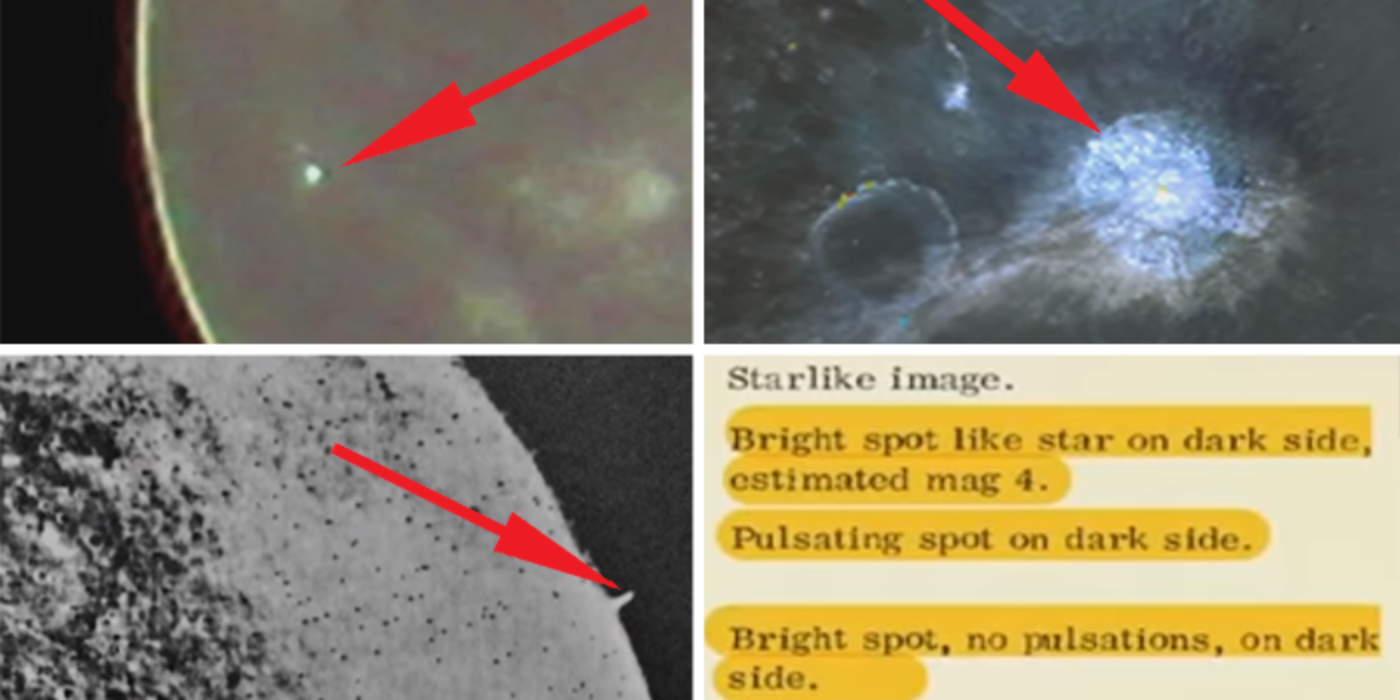 Famous astronomers reports: Odd and strange moving lights seen on the lunar surface