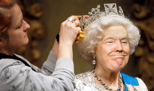 People Are Photoshopping Trump's Face On The Queen To Annoy Him