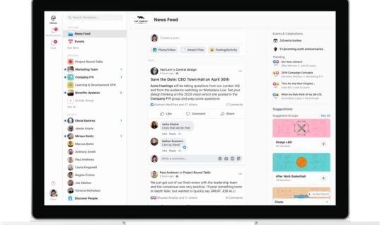 Facebook's Workplace gets updated UI, more emphasis on chat and groups