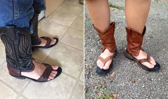 Cowboy Boot Sandals Are Here Just In Time For Summer
