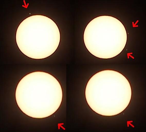 Sky watcher records a fleet of huge UFOs around the Sun 33
