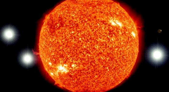 Sky watcher records a fleet of huge UFOs around the Sun 86