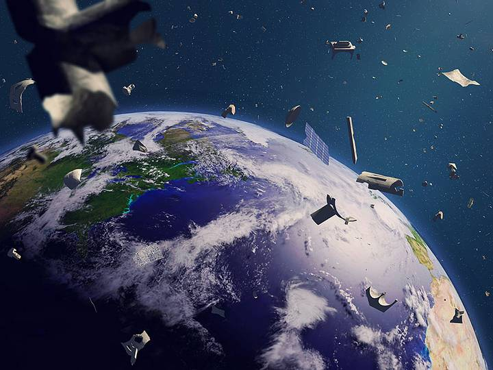 The first mission to clean up space junk is already dated 64