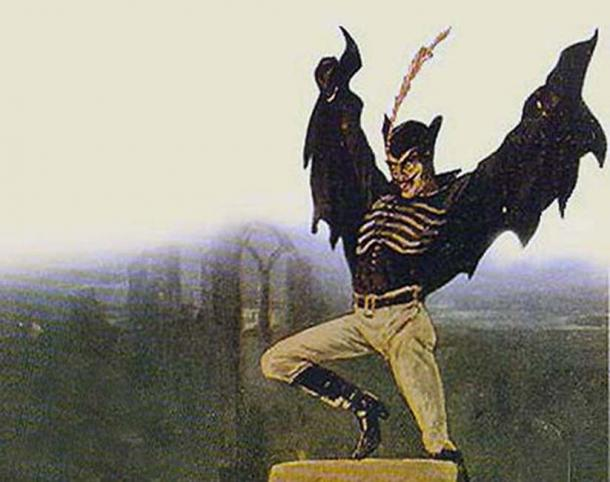 Spring Heeled Jack as represented by an anonymous artist. (Public domain)