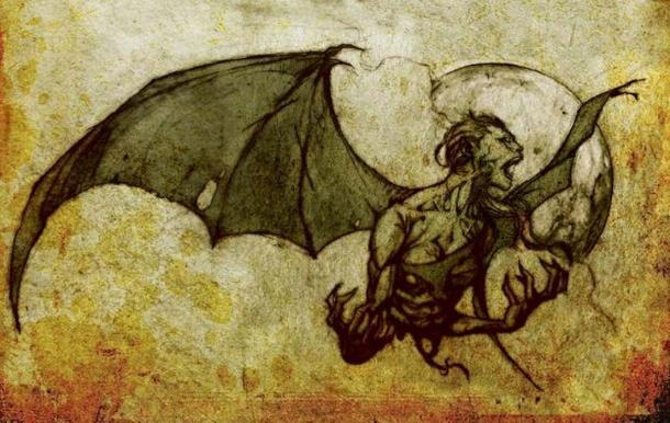 Manananggal, mythical creature from the Philippines. (Public domain)