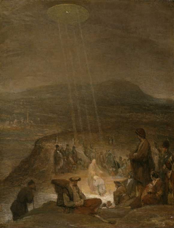 Enigmatic old paintings with images of UFOs 44