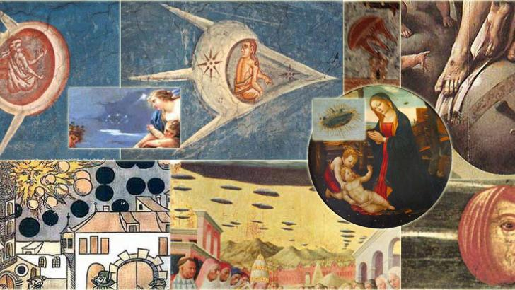 Enigmatic old paintings with images of UFOs 31