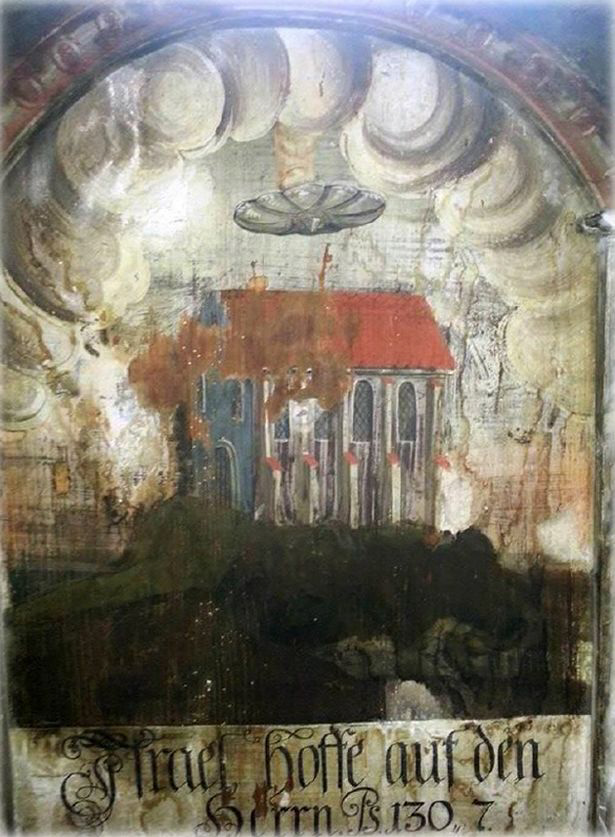 Enigmatic old paintings with images of UFOs 43