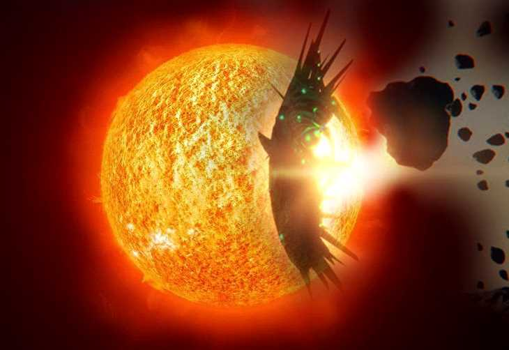 """NASA's SOHO probe records """"Huge UFO"""" resembling Chariot of the Gods which moves through the Solar System 31"""