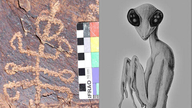 Mysterious petroglyph representing a half-mantis half-man being, found in Iran 31