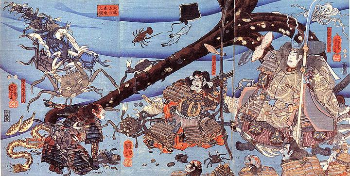 Heike, the mystery of the samurai-faced crabs 35