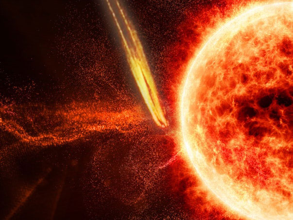 Mysterious explosion on the Sun caused by a UFO crash 33
