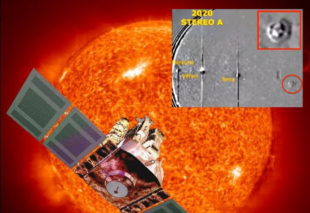 """NASA's SOHO probe records """"Huge UFO"""" resembling Chariot of the Gods which moves through the Solar System 32"""