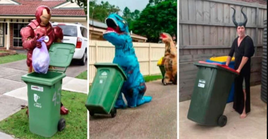People in Australia dress up to take out the trash and quarantine fun 35
