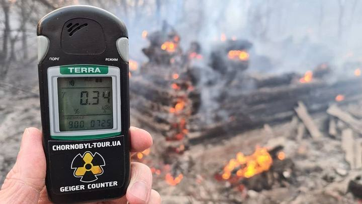 Forest fires raise radiation levels in the Chernobyl exclusion zone 31