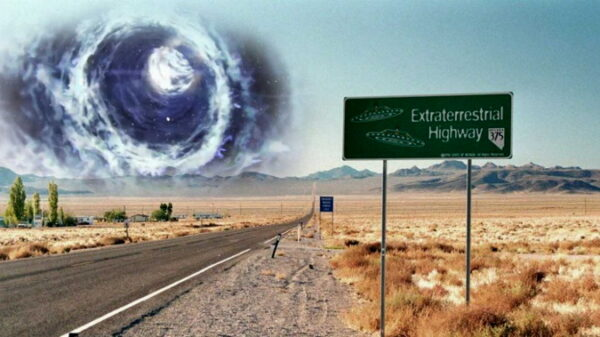 """AREA 51, a """"Gravitational Anomaly"""" recorded north of Las Vegas. The presence of a Stargate is suspected 40"""