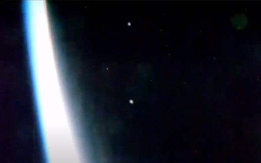 Massive Fleet of UFOS over the International Space Station at an incredible speed 34