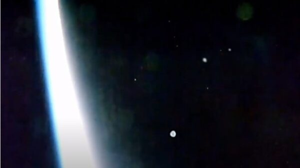 Massive Fleet of UFOS over the International Space Station at an incredible speed 17