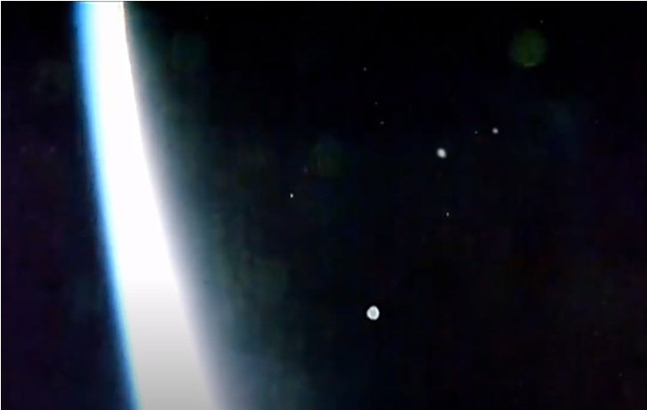 Massive Fleet of UFOS over the International Space Station at an incredible speed 31