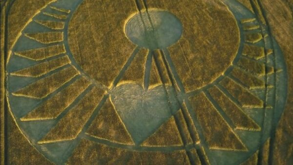 Crop Circle appears in the South of England. A message for the future that needs more love and tolerance 56