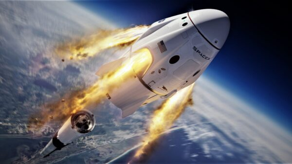 SpaceX and NASA send their first manned rocket into space 1