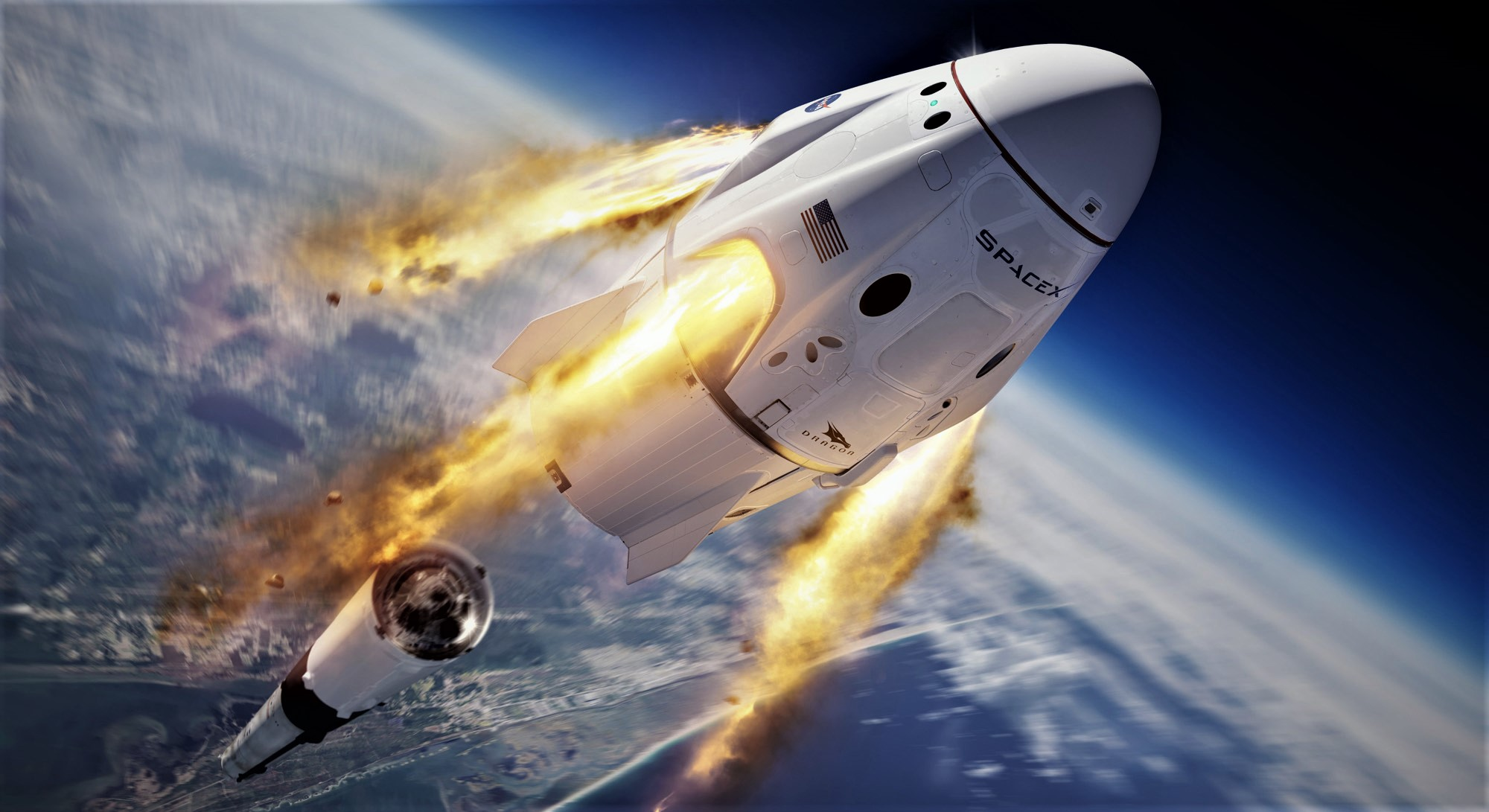 SpaceX and NASA send their first manned rocket into space 31