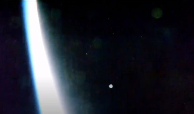 Massive Fleet of UFOS over the International Space Station at an incredible speed 32