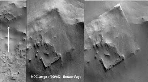 "NASA discovers an ""Archaeological Site"" on Mars thanks to photographs of the MGS probe 32"